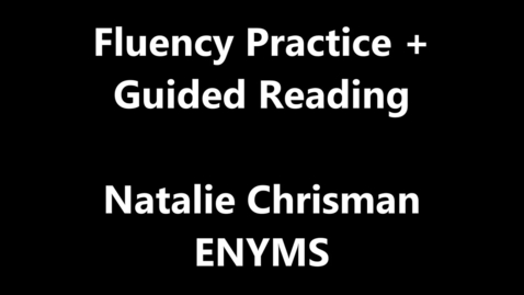Thumbnail for entry MS-HS Reading Intervention - ALT 2017 Video - Fluency and Guided Reading