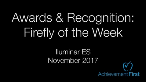 Thumbnail for entry Awards and Recognition: Firefly of the Week - Community Circle