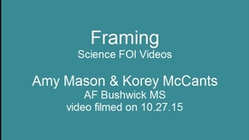 Thumbnail for entry Secondary Science - FOI Session - Framing