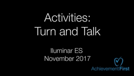 Thumbnail for entry Activities: Turn and Talk - Community Circle