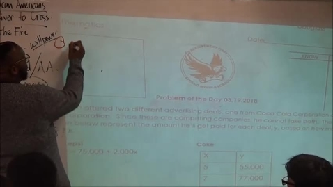 Thumbnail for entry FOI - MS Math – CR  – Problem of the Day Week 5