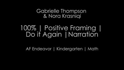 Thumbnail for entry Week 2 - 100% & Do It Again - Kindergarten