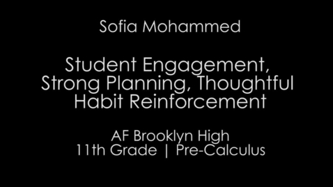 Thumbnail for entry Week 5 - HS Student Engagement, Strong Planning, Thoughtful Habit Reinforcement