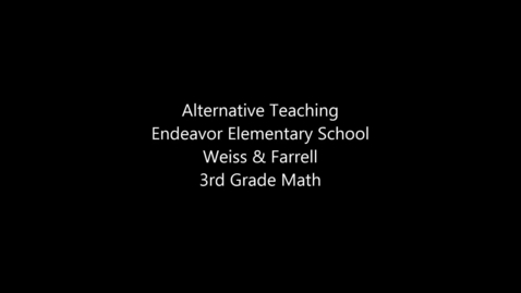Thumbnail for entry Co-teaching - Alternative Teaching - Elementary + Middle School - Weiss & Farrel and Walker & Nicasio