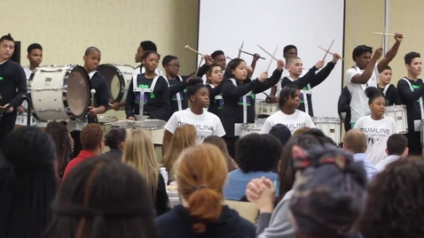 Thumbnail for entry AF Summit MS Drumline Scholar Performance at the 2017 School Leader Summit