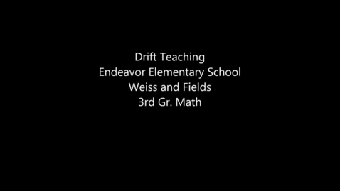 Thumbnail for entry Co-teaching - Drift Teaching - Elementary School - Weiss and Fields
