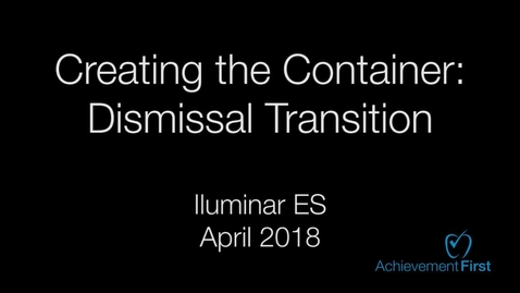 Thumbnail for entry Dismissal Transition - Iluminar ES - Community Circle