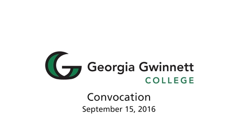 Thumbnail for entry 2016-09-15 - Convocation