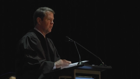 Thumbnail for entry Brian Kemp - GGC Fall 2015 Commencement