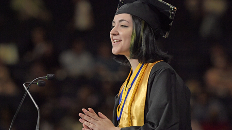 Thumbnail for entry Caitlin Vickery - 2019 Spring Commencement