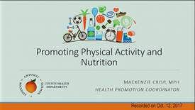 Thumbnail for entry MacKenzie Crisp - Promoting Physical Activity & Nutrition