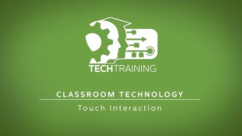 Thumbnail for entry Touch Interaction