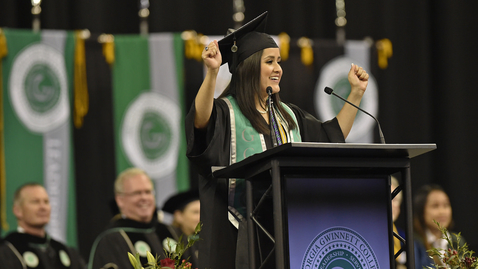 Thumbnail for entry Crystal Serrato - GGC Fall 2016 Commencement