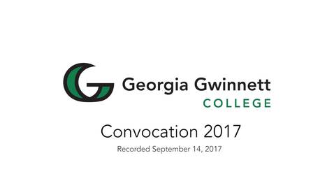 Thumbnail for entry 2017-09-14 - Convocation