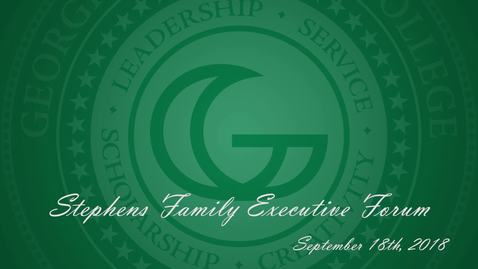 Thumbnail for entry Stephens Family Executive Forum Dedication - 09/18/2018