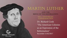 Thumbnail for entry Dr. Richard Cook - American Colonies as an Expression of the Reformation