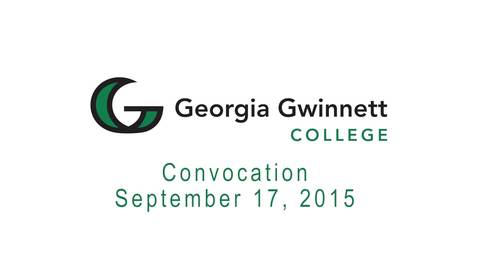 Thumbnail for entry 2015-09-17 - Convocation