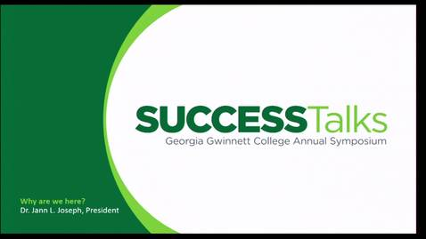 Thumbnail for entry 2019 Success Talks - Dr. Jann L. Joseph