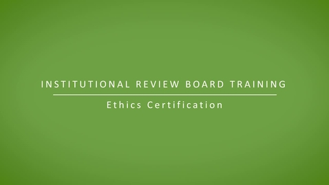 Thumbnail for entry Ethics Certification