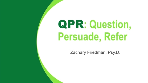 Thumbnail for entry 2019 Success Talks - Question Persuade Refer