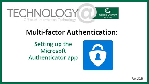 Thumbnail for entry MFA Authenticator setup