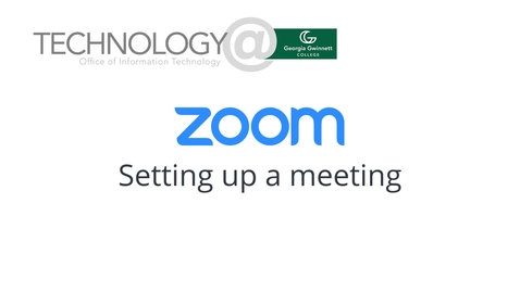Thumbnail for entry Zoom: setting up meetings