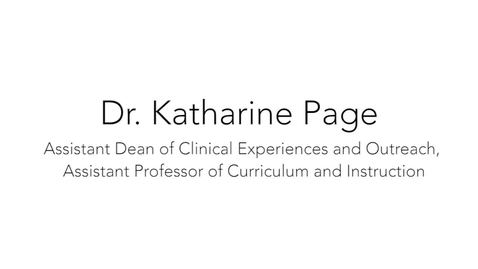 Thumbnail for entry Dr. Katharine Page