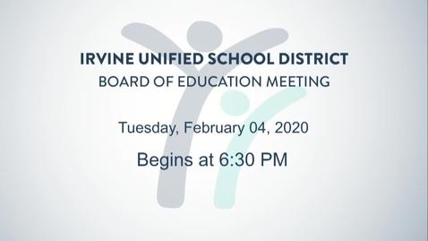 2020-02-04 Board Meeting