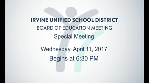 Thumbnail for entry 2018-04-11 Special Board Meeting