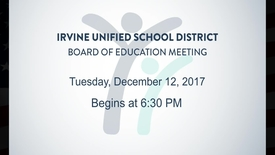 Thumbnail for entry 2017-12-12 School Board Meeting