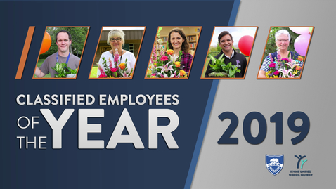 Thumbnail for entry Classified Employees of the Year 2019