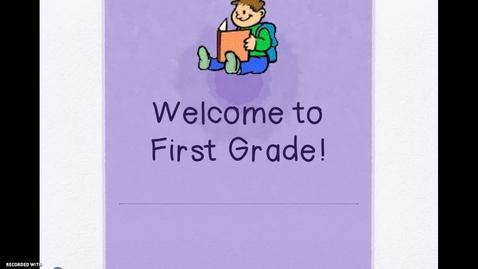 Thumbnail for entry 1st Grade BTSN First Grade