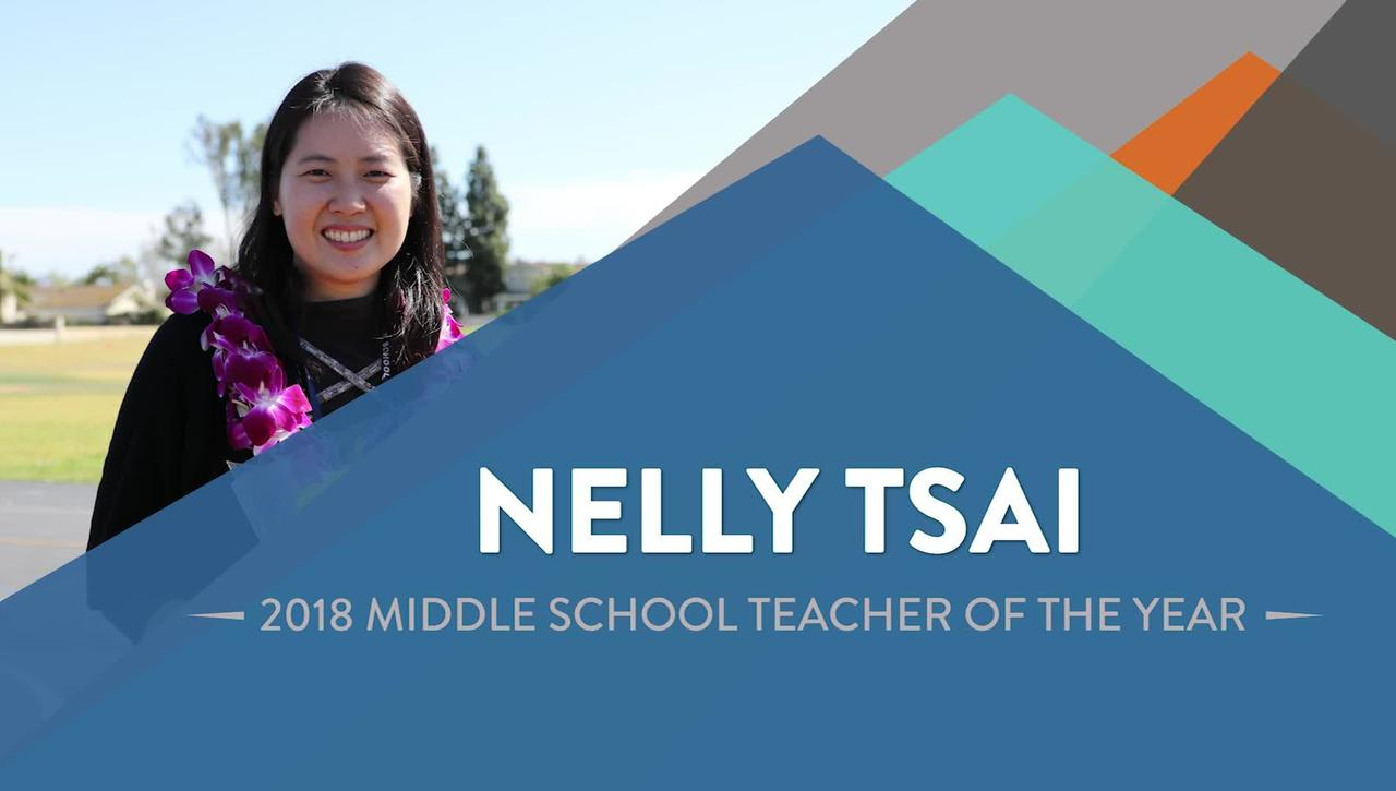 Nelly Tsai - 2018 Middle School Teacher of the Year