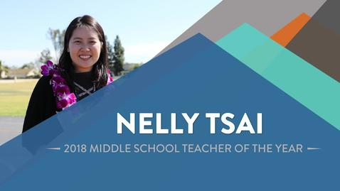 Thumbnail for entry Nelly Tsai - 2018 Middle School Teacher of the Year