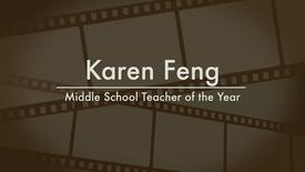 Thumbnail for entry Karen Feng - 2014 Middle School Teacher of the Year