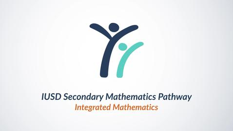 Thumbnail for entry Math Pathways in IUSD