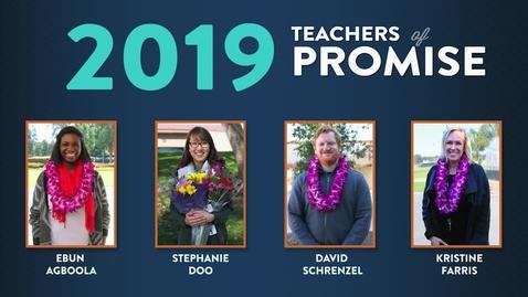 Thumbnail for entry Teacher of Promise 2019