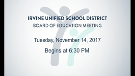 Thumbnail for entry 2017-11-14 School Board Meeting