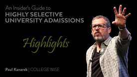 Thumbnail for entry Paul Kanarek - Guide to College Admissions Highlights