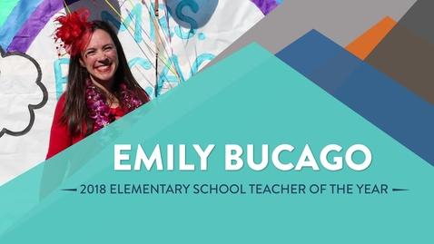 Thumbnail for entry Emily Bucago - 2018 Elementary School Teacher of the Year