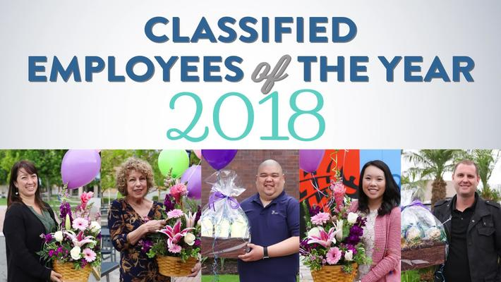 2018 Classified Employees of the Year