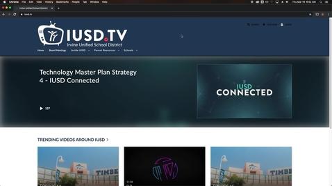 Thumbnail for entry IUSD.TV - Kaltura Capture