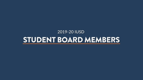 Thumbnail for entry Honoring Student Board Members 2020