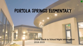 Thumbnail for entry Principal Office Back to School Night 2018