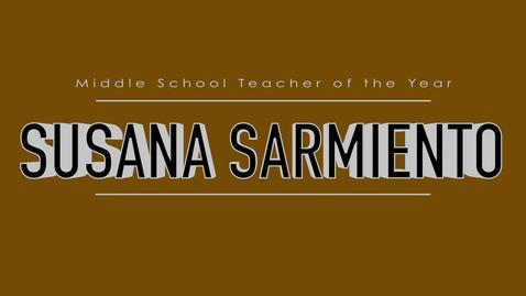 Thumbnail for entry Susana Sarmiento - 2015 Middle School TOY
