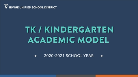 Thumbnail for entry Kinder Academic Model 2020-21 School Year