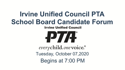 Thumbnail for entry 2020-10-07 IUCPTA School Board Candidate Forum