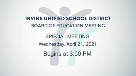 Thumbnail for entry 2021-04-21 Board Special Meeting