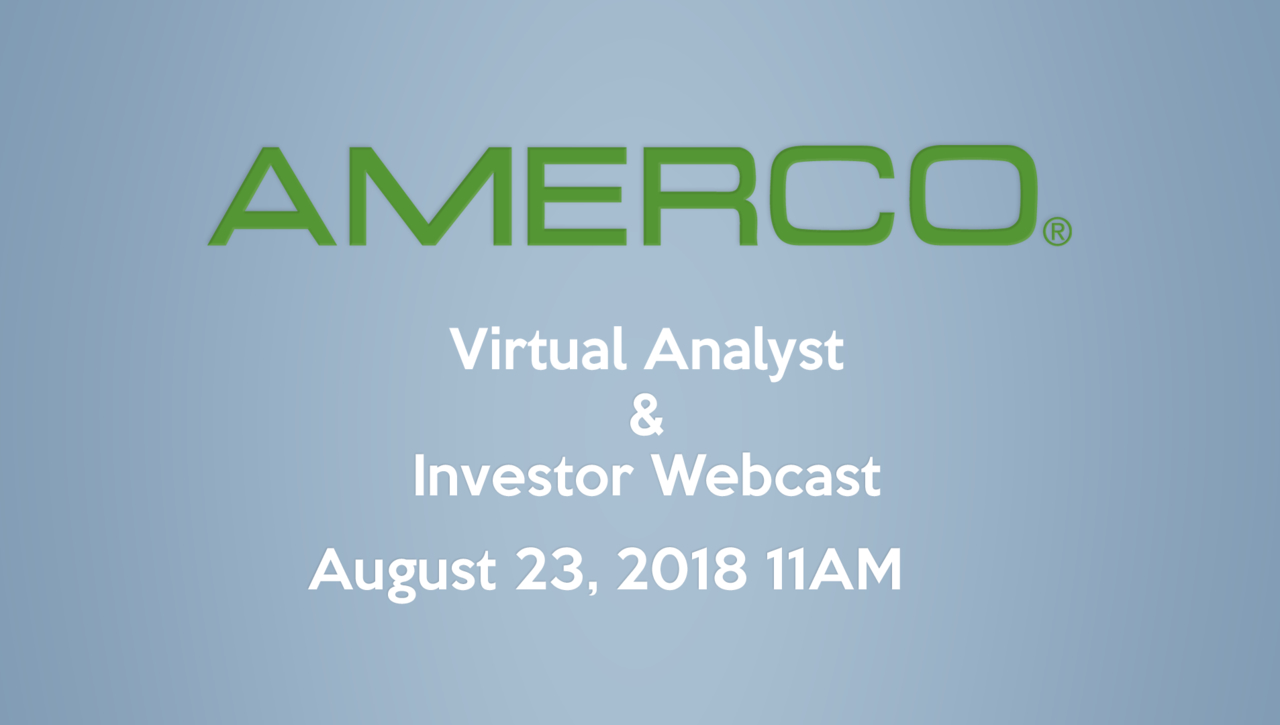 2018 AMERCO Investor & Analyst Webcast