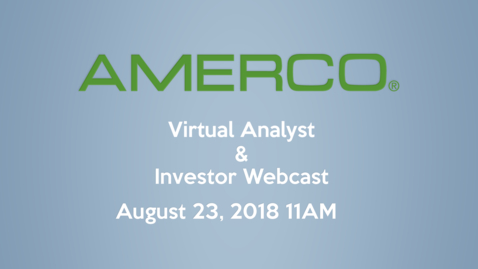 Thumbnail for entry 2018 AMERCO Investor & Analyst Webcast